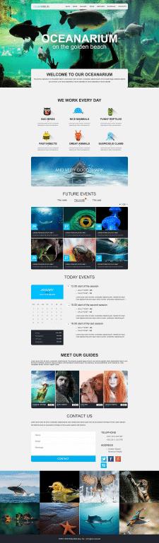 Сайт для океанариума
