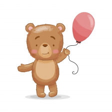 Векторная иллюстрация - медведь