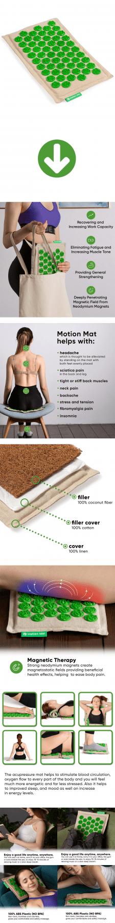 Листинг Amazon - Motion Mat Acupressure Mat