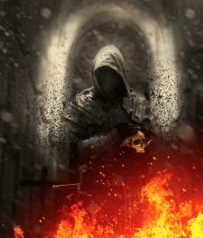 Коллаж Средневековый рыцарь