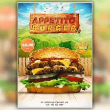 Рекламный постер для пицерии