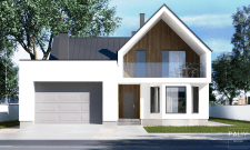Проект дома с мансардой и гаражем