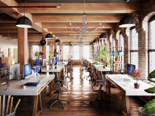 3д рендер+моделирование офиса