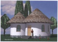 проект домика из самана