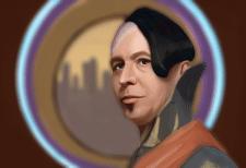Гэри Олдмен. Цифровой портрет. Фотошоп