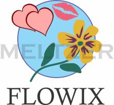 Легкий логотип для цветочной компании