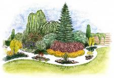 Эскиз ландшафтной композиции