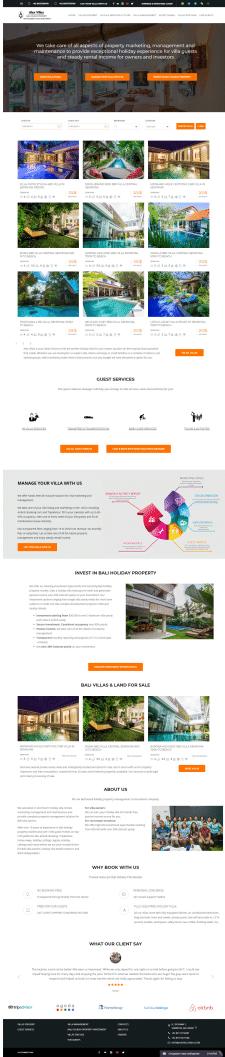 Bali Holiday Villas Investment