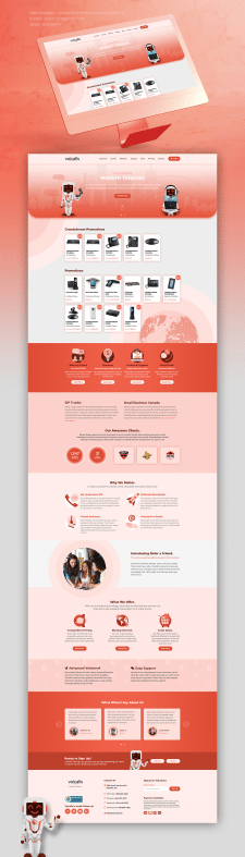 Website for telephone company
