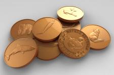 Изготовление 3D моделей медалей с животными