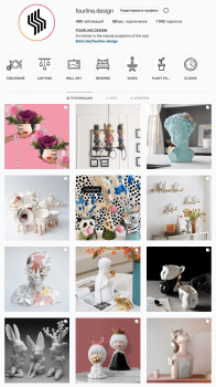 Instagram: Интернет магазин декора для дома