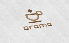 """Фірмовий знак кав'ярні """"Арома"""""""