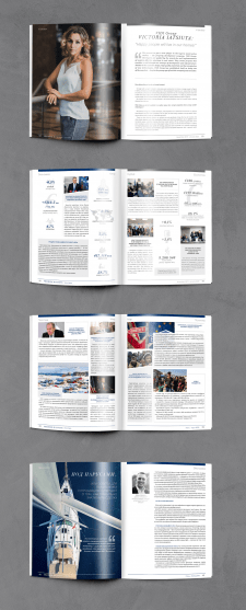 Дизайн и верстка двуязычного журнала PREMIERE busi
