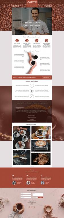 Дизайн лендинга COFFE