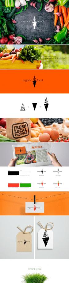 Логотип для фермерской компании «Organic Food»
