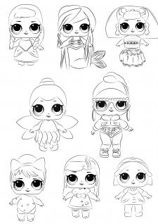 Иллюстрации для разрисовок
