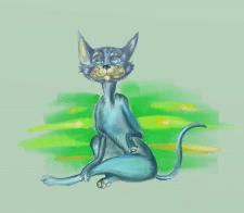 Персонаж знающей жизнь кошки