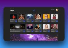 UI и UX дизайн для музыкального плеера