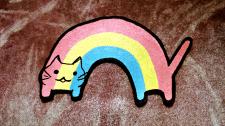 Нашивка, патч Радужный кот