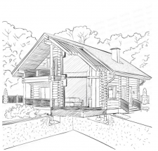 Отрисовка дома в векторе построение 3д разреза
