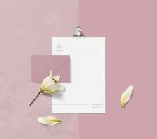 Фирменный стиль для компании по доставке цветов