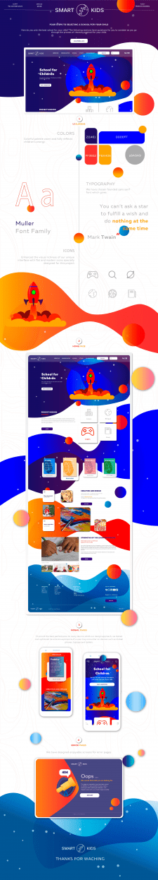 landing page of one-hour educational school smart