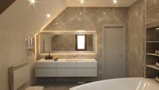 Визуализация ванной комнаты с окном