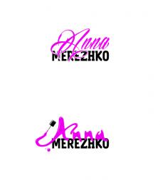 Логотип для мастера маникюра в Instagram.