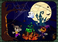 Хеллоуин Раскраска