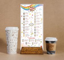 Сезонное меню для кофейни