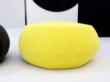 Chair pouf and folding screen 3D model