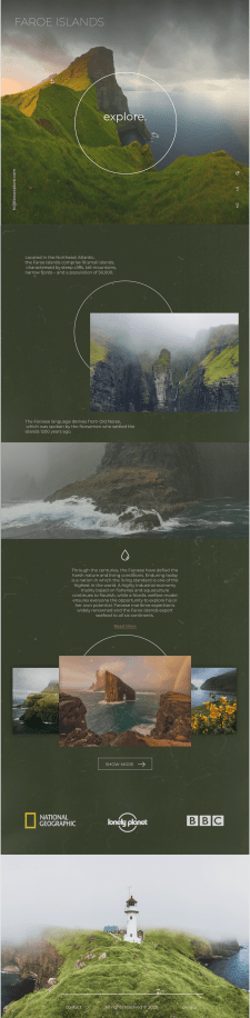 """Visualisation for Travel Project """"Faroe"""""""