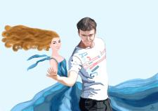 Пара, танцующая бразильский зук