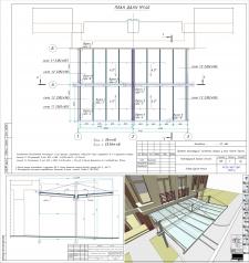 """Конструкция стеклянного навеса в системе """"Aluprof"""" MB-SR50"""