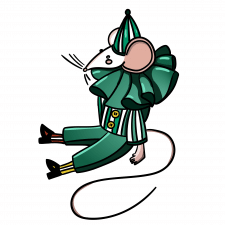 Мышка-клоун