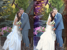 Ретушь свадебных фото.До и после 5
