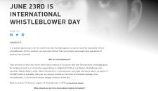 JUNE 23RD IS INTERNATIONAL WHISTLEBLOWER DAY