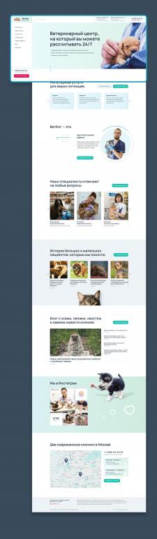 Дизайн сайта ветеринарной клиники ВетКэт