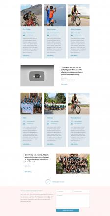 Сайт велосипедных гонок на CMS Wordress