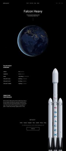 Space X - промосайт