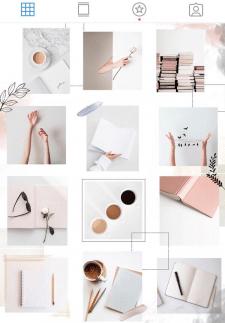Создание шаблона для ленты instagram