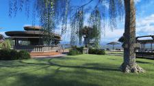 Визуализация территории базы отдыха на озере