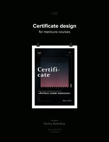 Certificate design for manicure courses