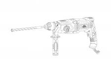 Отрисовка модели перфоратора, вектор в .ai