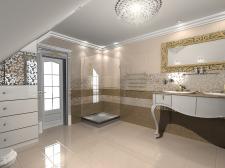 Разработка интерьера ванной комнаты ( по желанию)