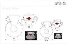 Макет нанесения лого на чашки