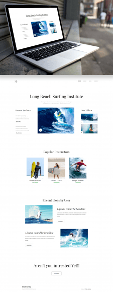 Адаптивная верстка Landing Page Long Beach Surfing