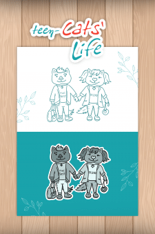 Иллюстрации персонажей для детской книги