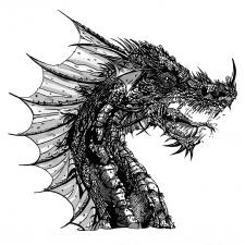 Ілюстрація_растрове зображення_дракон
