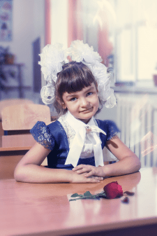 Худ. обработка и ретушь школьного фото